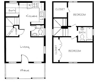 Tiny House Plans on 200 square foot floor plans
