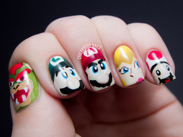 Awesome Nail Art Mario