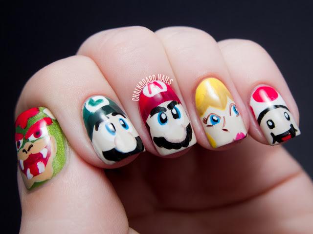 Awesome art nail nail designs awesome nail art mario prinsesfo Choice Image