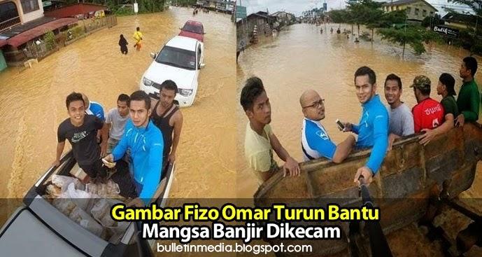 Gambar Fizo Omar Turun Bantu Mangsa Banjir Dikecam