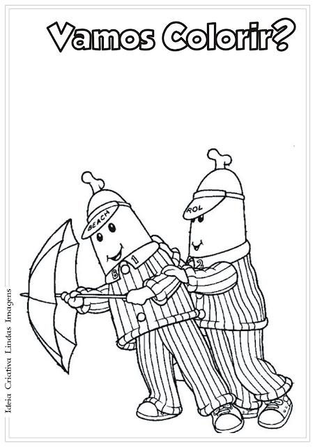 Bananas de Pijama desenho para colorir