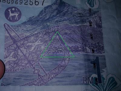 RM1 sebelum Eksklusif : Simbol Illuminati Pada Duit Kertas Malaysia