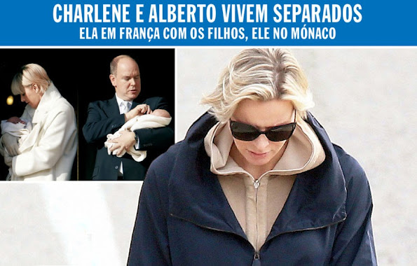 Princess Charlene of Monaco left the Palace and lives with the children the Prince Jacques and Princess Gabriella in the south of France