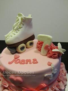 skating birthday cake
