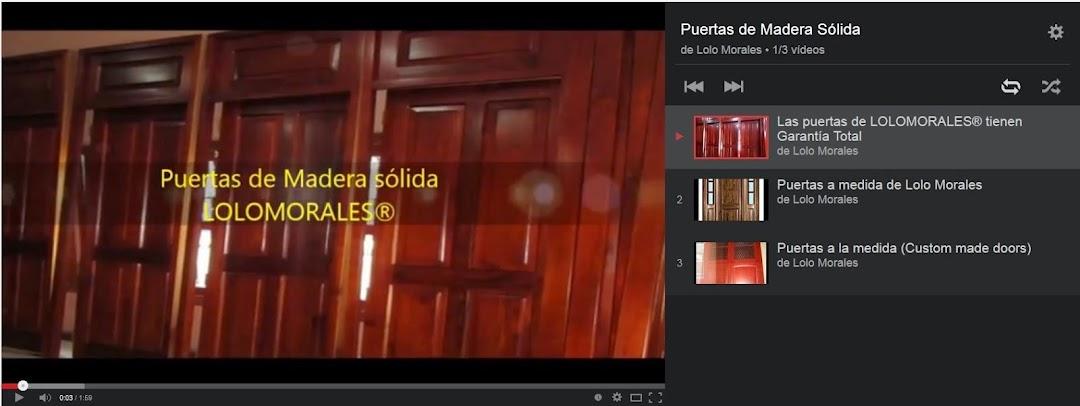 Puertas de madera sólida | Lolo Morales Furniture®