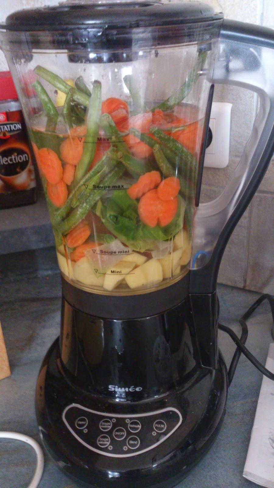 La ptite cuisine de lily v lout s de l gumes au blender chauffant simeo - Soupe blender chauffant ...