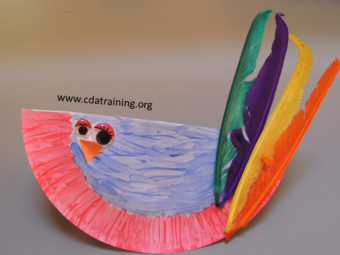 Paper Plate Bird & Child Care Basics Resource Blog: Paper Plate Bird