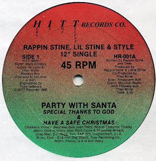Rappin Stine, Lil Stine & Style - Party With Santa (Vinyl, 12'' 1986)(Hitt Records)