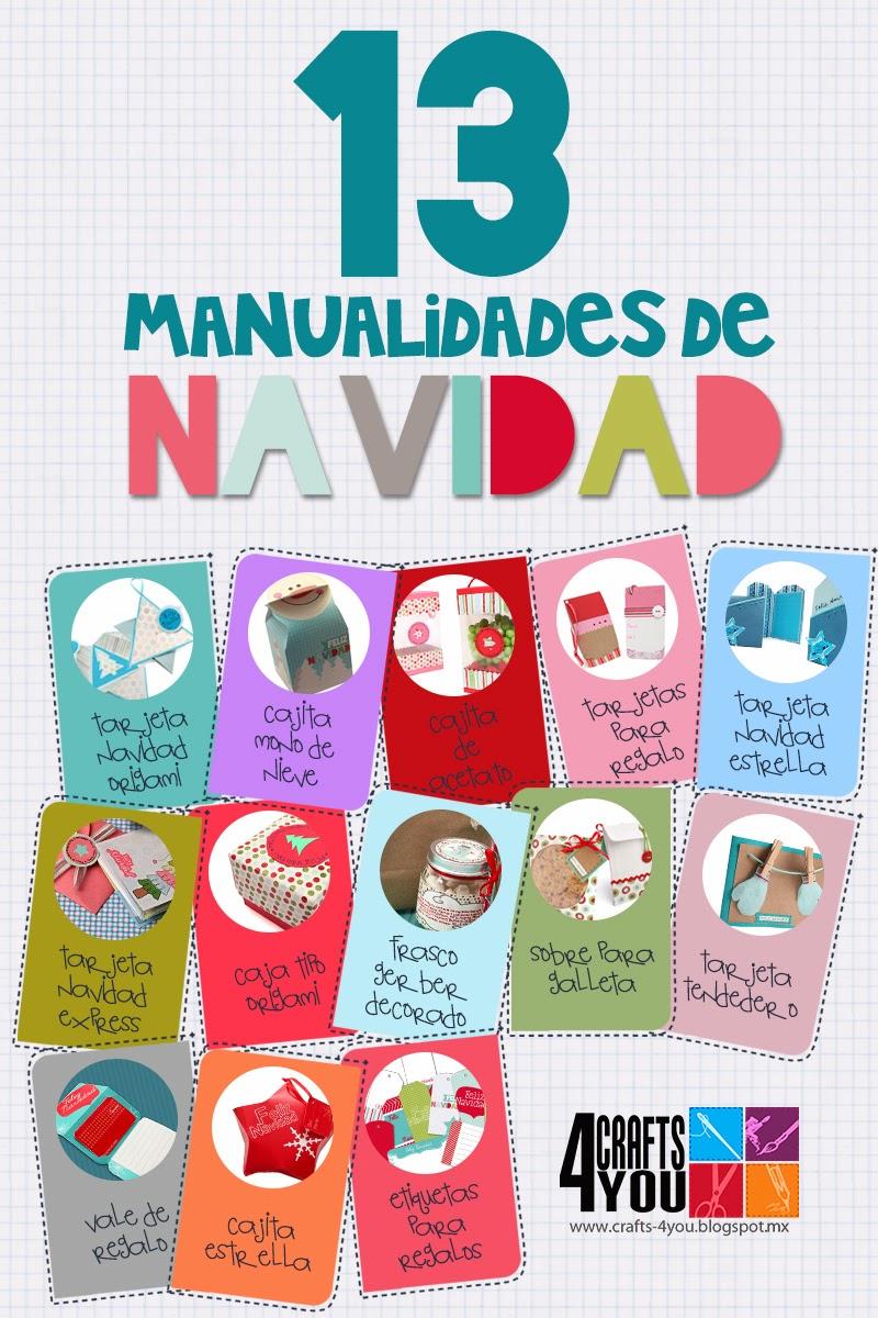Crafts 4you 13 manualidades para esta navidad cajas - Manualidades tarjetas de navidad ...