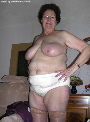 old granny posing