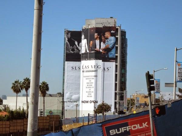 Giant SLS Las Vegas hotel billboard