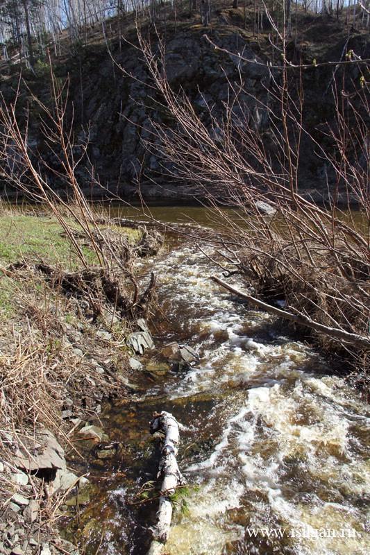 Водопад Ольгин. Река Межовка. Челябинская область
