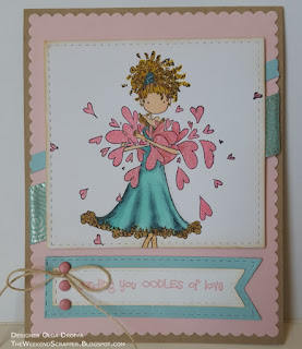 Stampingbella oodles of love card for mojobella challenge
