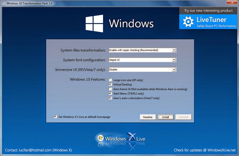 Windows 10 Transformation Pack 1.0