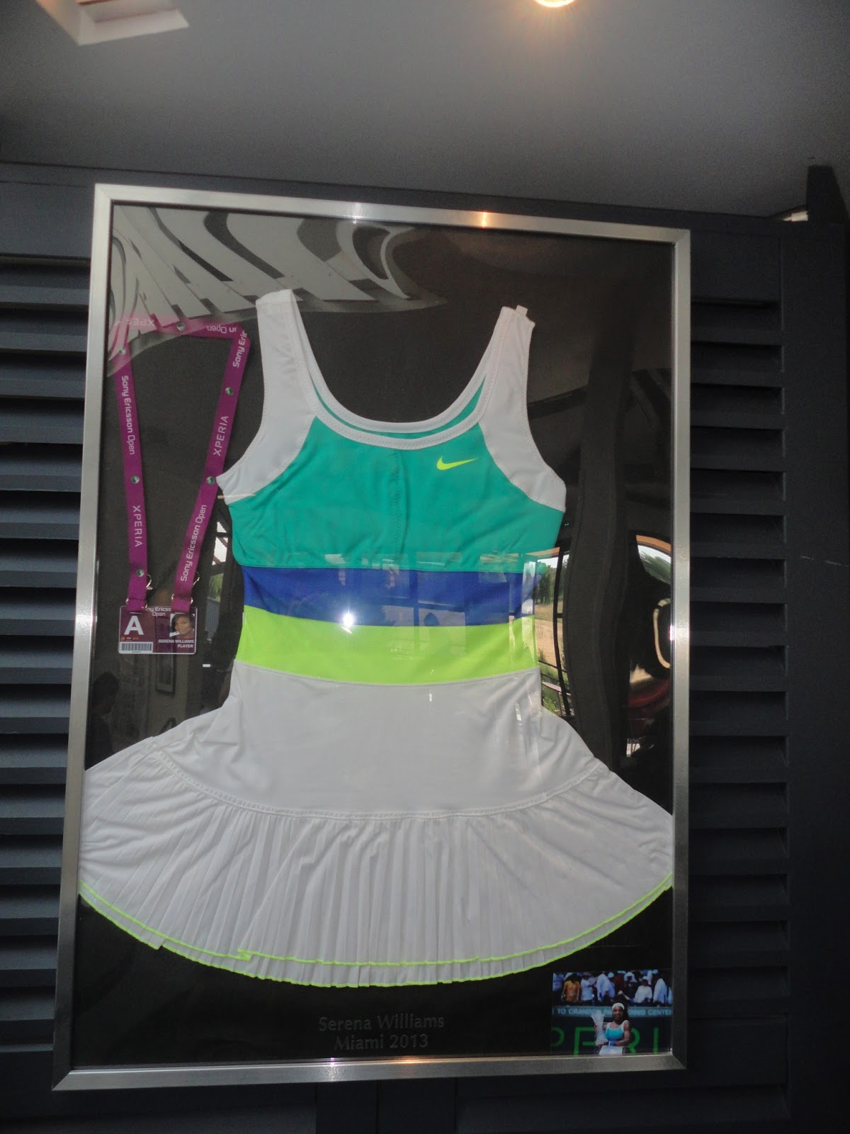 The dress serena wore during the 2012 sony ericsson open