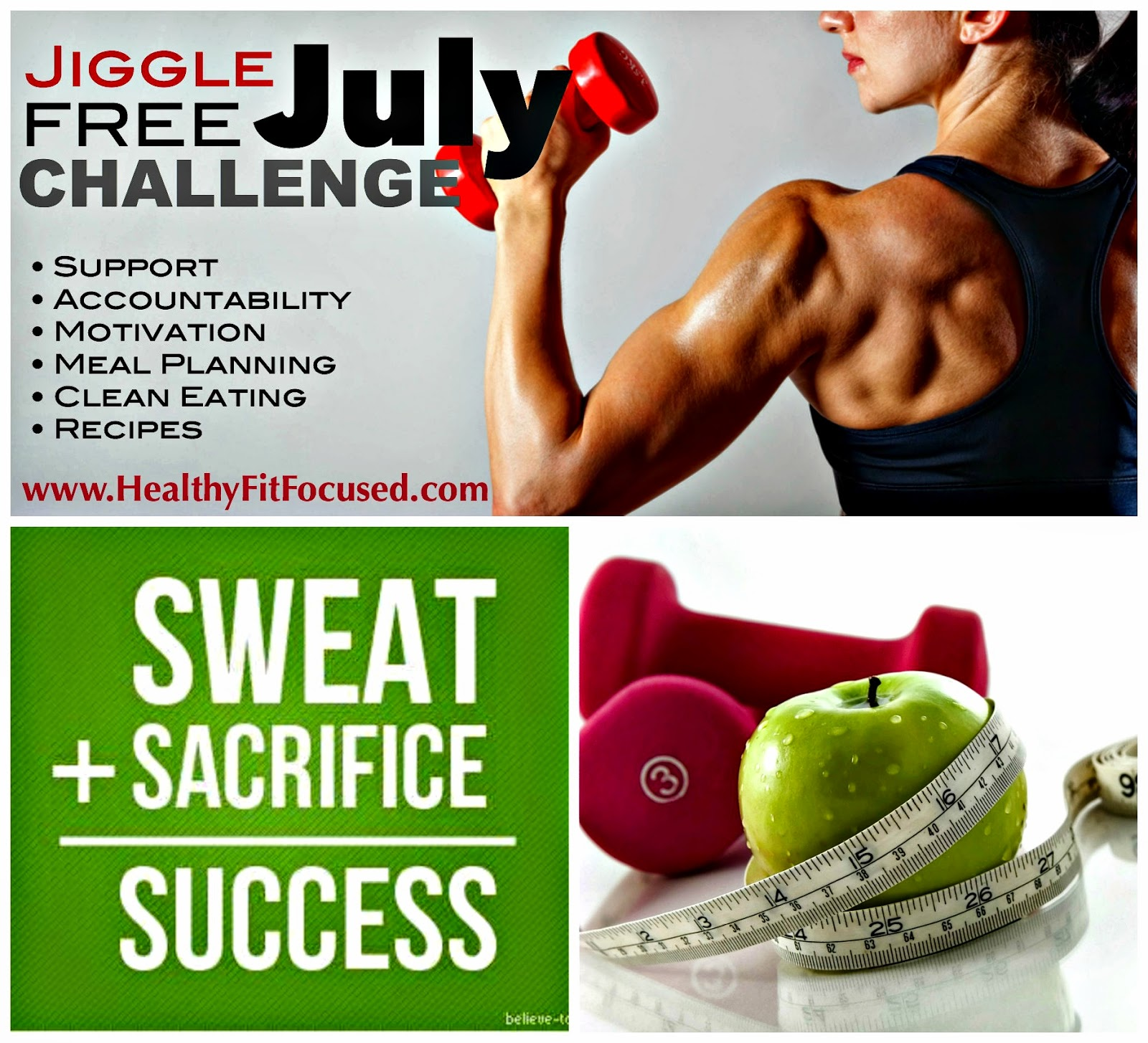 Jiggle Free July Challenge, Lose Weight, Support, Accountability, Summer Weight loss, 21 Day Fix, Piyo