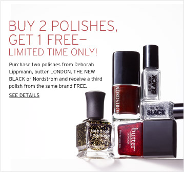 Nordstrom Buy Two Get One Free Nail Polish Sale - Polarbelle
