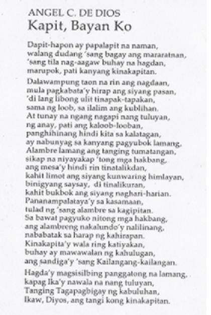 summary of mga anghel sa dapit hapon