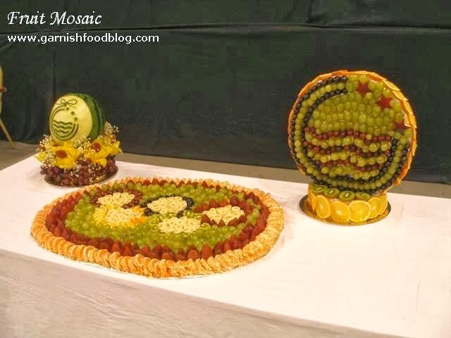 logo carving in fruits
