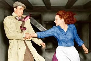 John Wayne y Maureen O'Hara en El hombre tranquilo