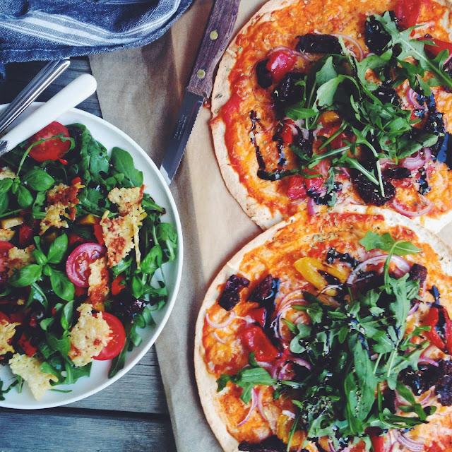Tortillapizza - mit livs kogebog - vegetar