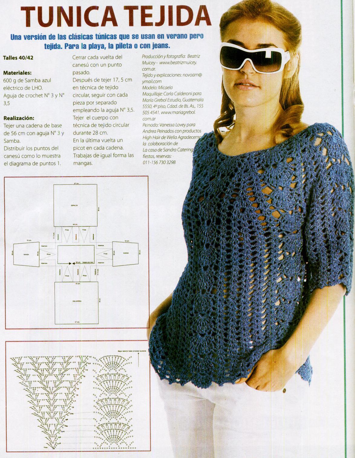 Graciela Tejidos: tunica tejida