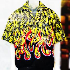 Prada Banana Print Bowling shirt.
