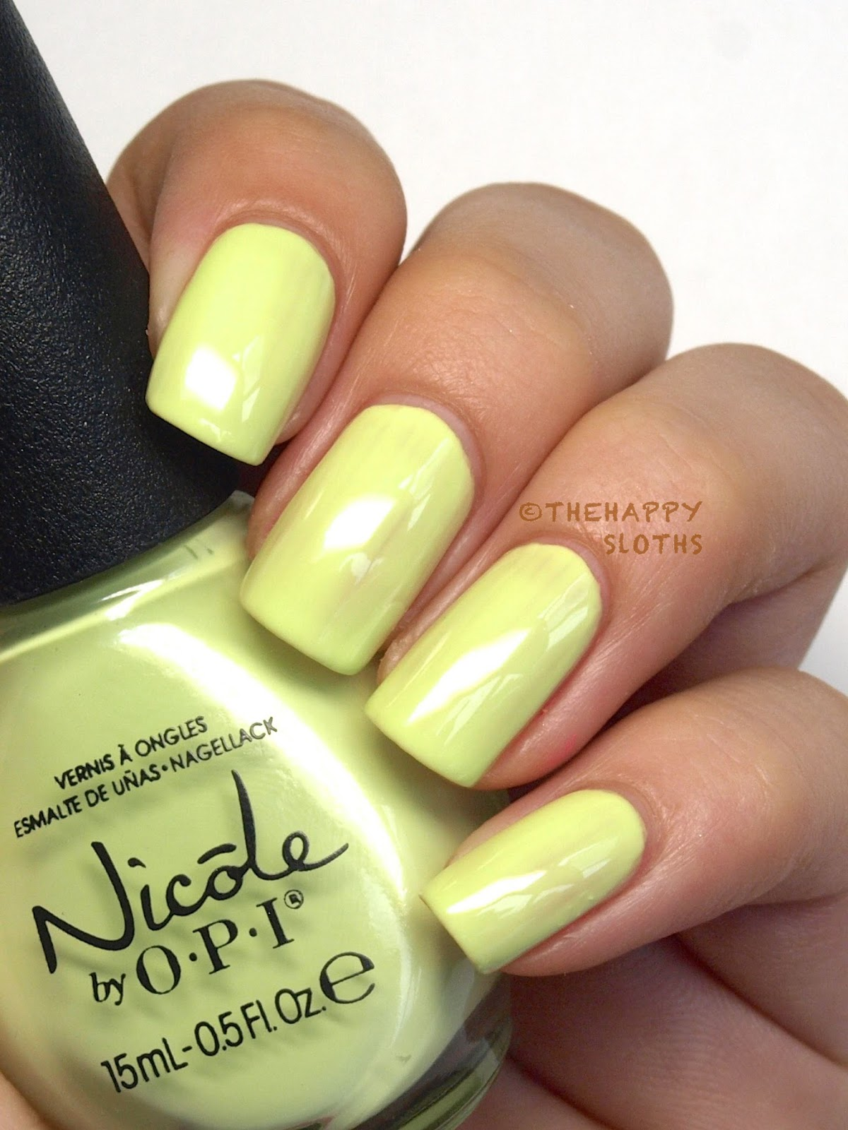 Nicole by OPI Seize the Day Summer 2014 Lay it on the Lime Review Swatch