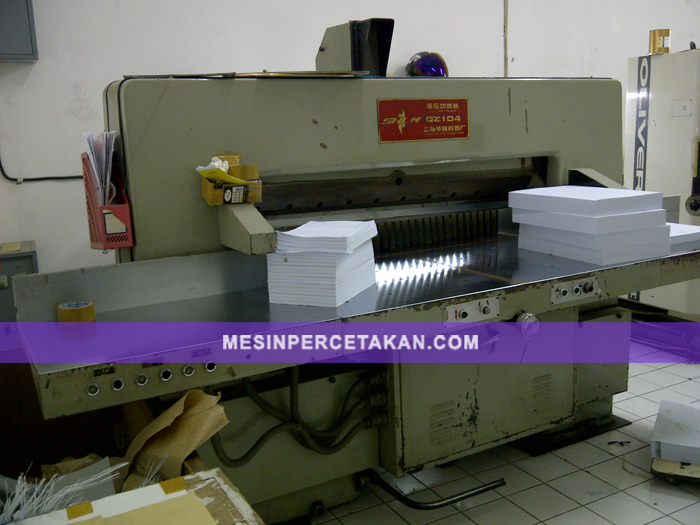 Mesin Potong Kertas Bekas | QZ 104 - SHLM