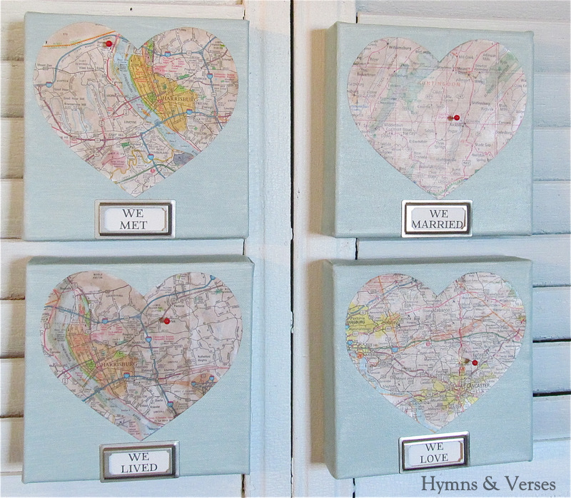 Mod podge diy love map art work debbiedoos gumiabroncs Gallery