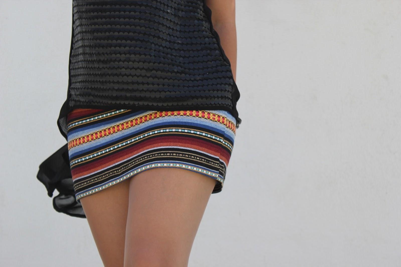 Costura fácil: mini falda étnica DIY (patrón gratis) | | Oh, Mother ...