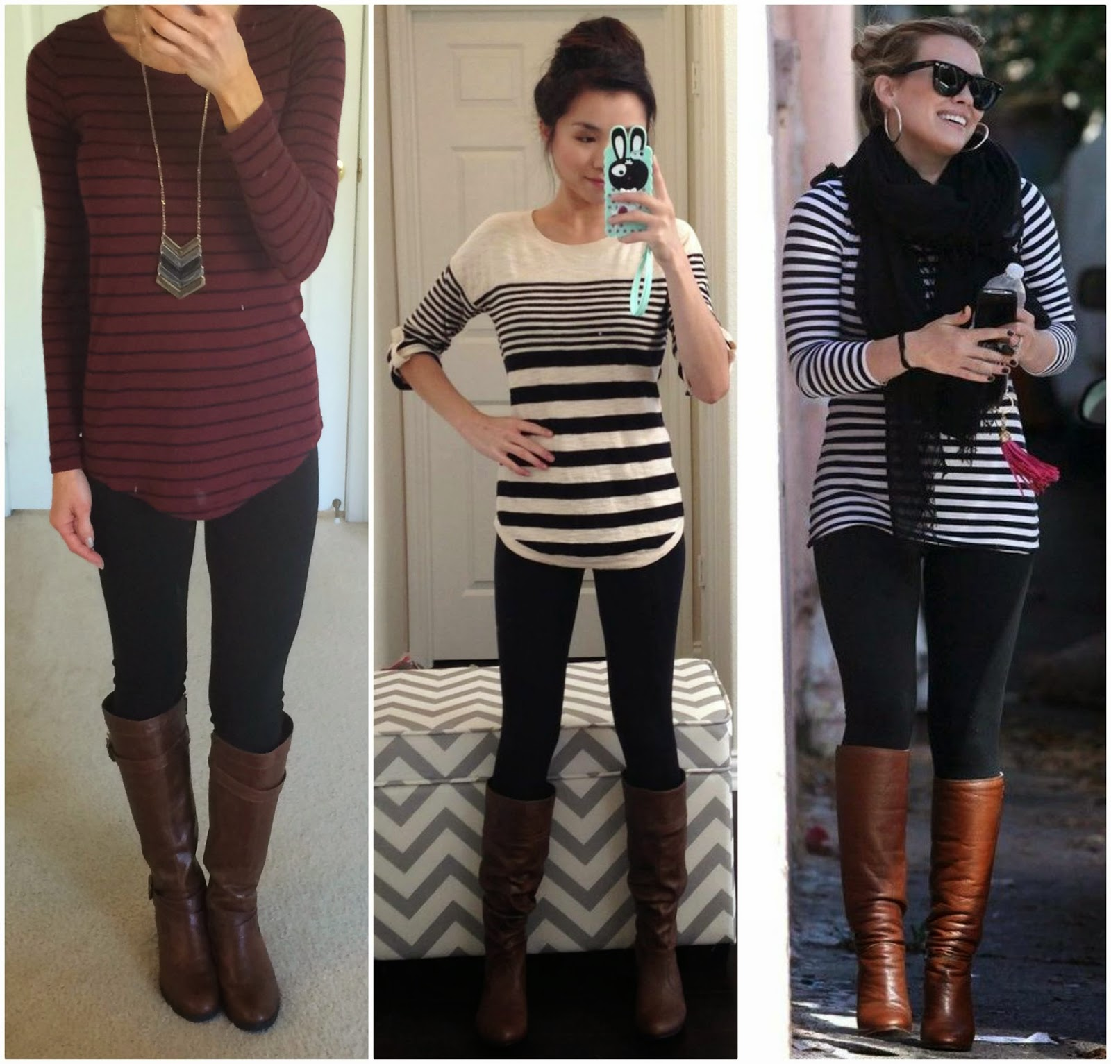 Striped Shirt And Leggings
