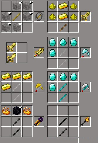 Epic Weapons Mod receta