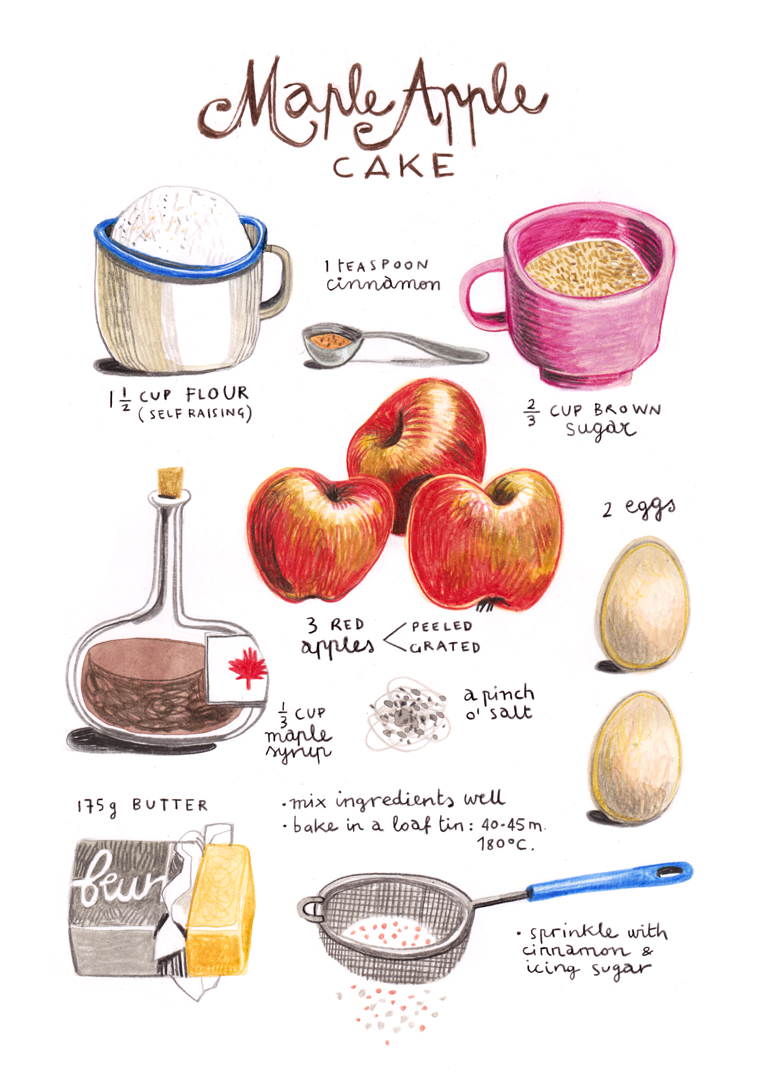 Felicita sala illustration illustrated recipes october for October recipes