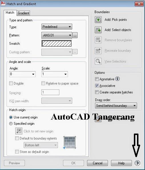 Cara Menggunakan Island Detection Arsiran AutoCAD.