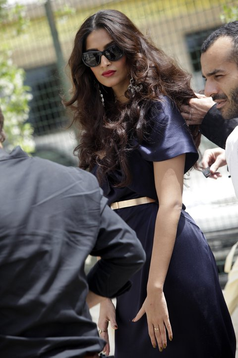 Sonam Kapoor L'oreal Photoshoot at Cannes Film Festival 2011
