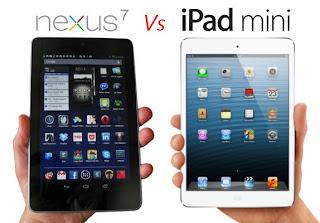 comparision b/w google nexus 7 and ipad mini
