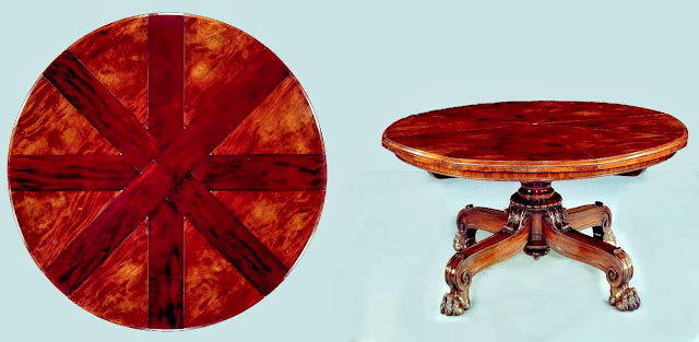 A Victorian Mahogany Circular Radially Extending Dinning Table by Johnstone and Jeanes, No. 881