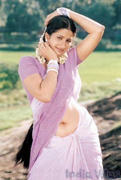 Aunty Saree Navel