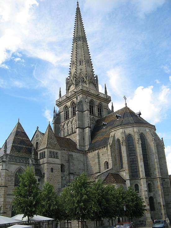 Autun Cathedral Seen From The Apse Eastern End