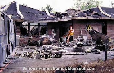 Burned down McDonalds