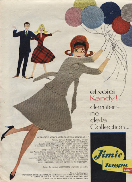 vintage Graphic design , in 60s and 70s adverts   Publicité Tergal - Tergal fabric advert - 1960  Publicité Fermeture eclair - zipper advertisement - 1960  Publicité fil DMC - Thread dmc advert - 1967  Publicité laine Georges Picaud - Georges Picaud wool advert - 1970  Publicité machine à coudre Elna - Elna sew machin advertisement - 1960