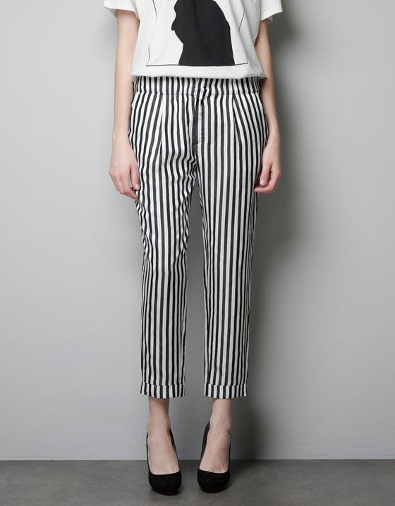 pantalones rayas zara