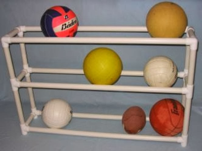 PVC Pipe Ball Organizer