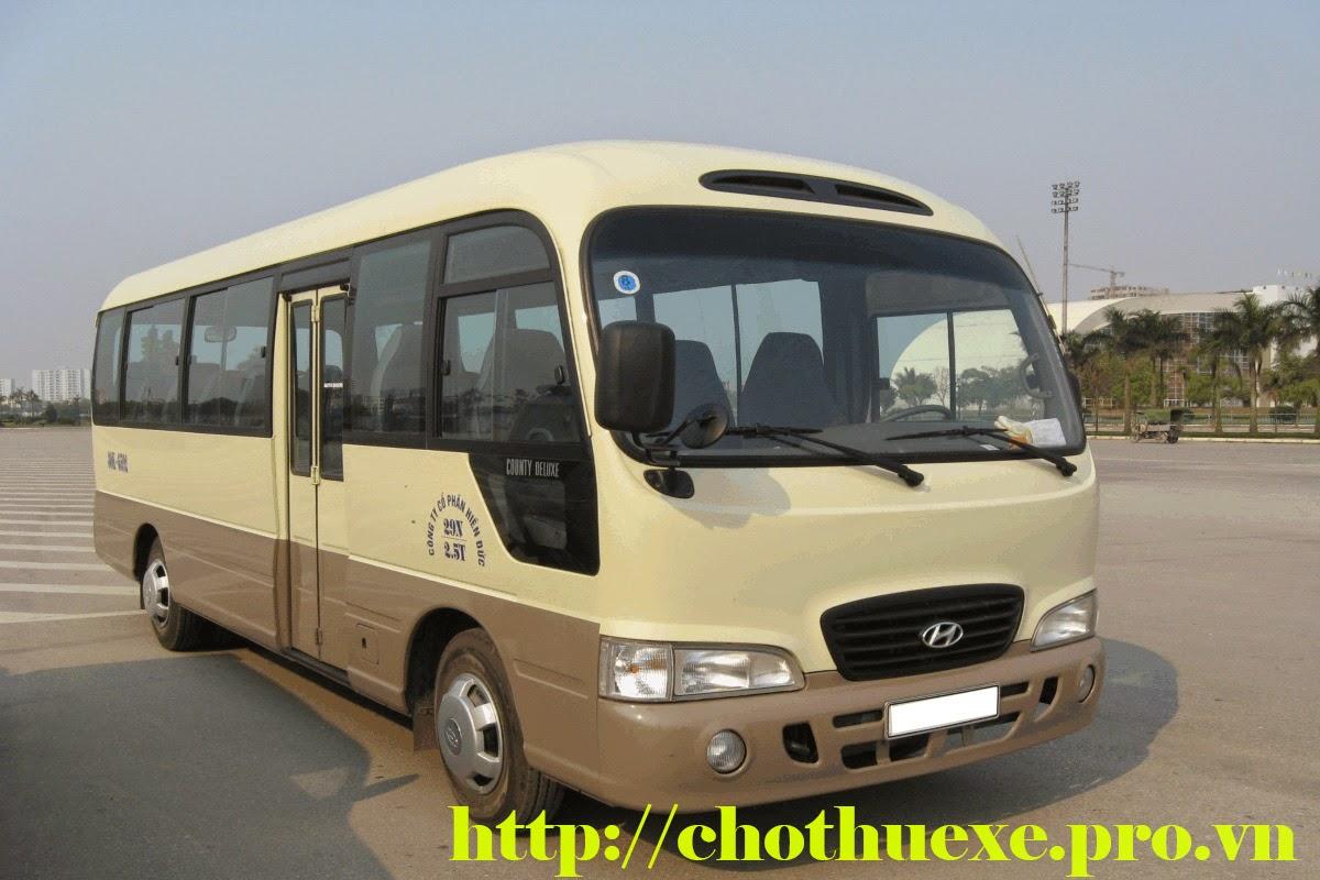 Cho thuê xe đưa đón nhân viên 16 chỗ, 29 chỗ, 45 chỗ giá rẻ ở Hà Nội