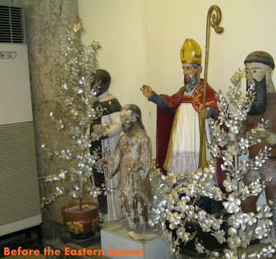 Cebu Cathedral Museum - antique images of saints