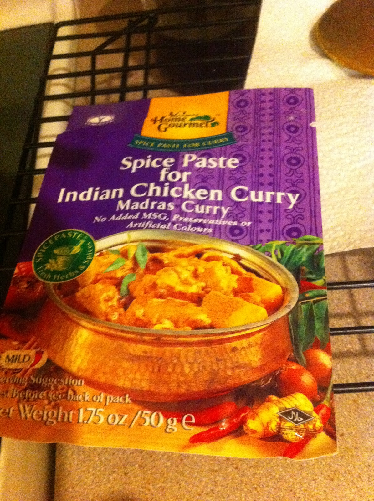 also picked up a packet of indian curry paste