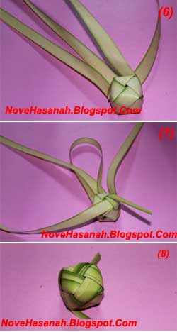 cara membuat mainan tradisional berbentuk bola kecil dari daun kelapa yang masih muda atau janur 4