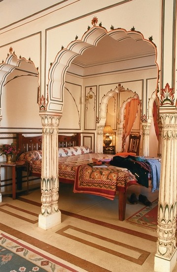 Jaipur's Samode Haveli Hotel in Rajasthan, India.
