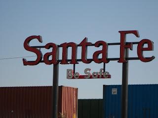 atchison topeka and santa fe railroad sign